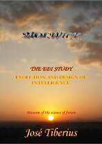 Cover of the book the EDI Study. Dusk over the sea with clouds, Galicia.