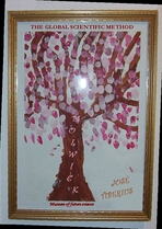Cover of the Global Scientific Method PDF. Tree of knowledge with pink leaves.