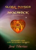 Cover of the book Dynamics and Global Gravity. Boomerang Nebula with red heart.